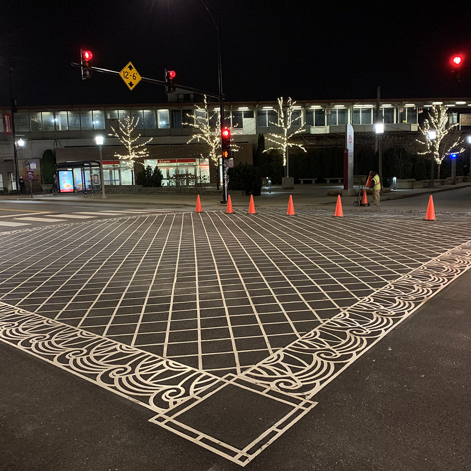 Decorative intersection overlay
