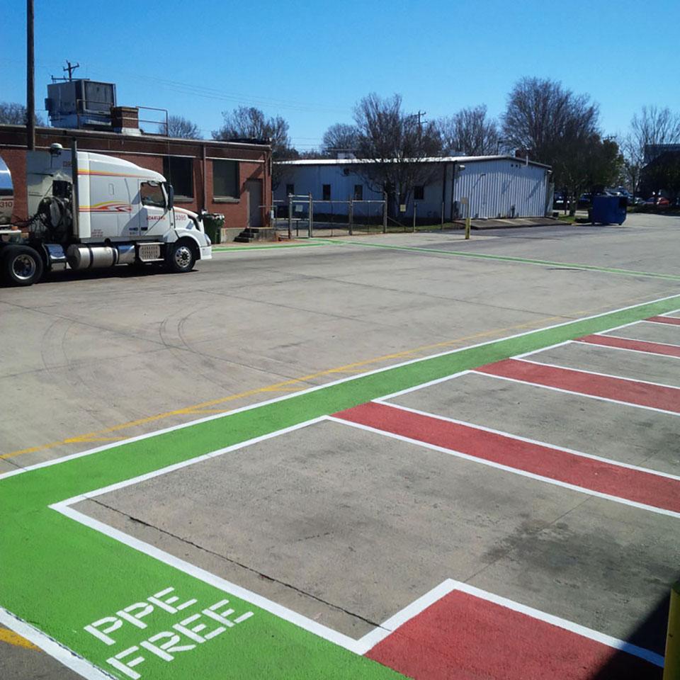 Decorative parking safety overlay